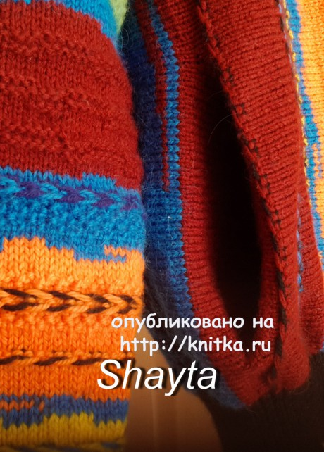 Мужской жакет на молнии Shayta. Работа Оксаны Усмановой вязание и схемы вязания
