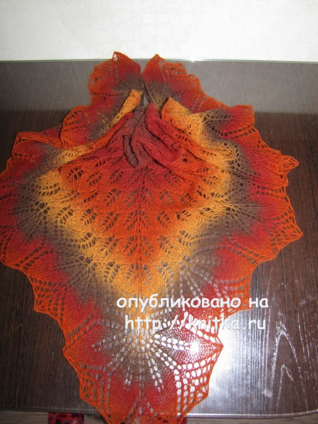Вязаные шали Харуни и Холден. Работы Арины вязание и схемы вязания