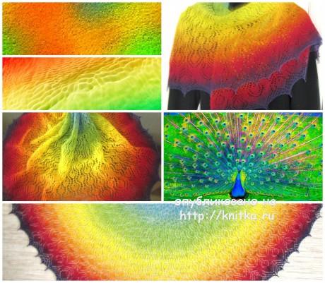 Вязаные шали. Работы Арины вязание и схемы вязания