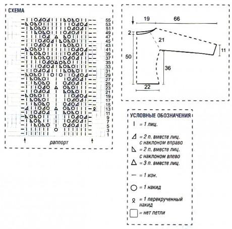 схема узора для джемпера