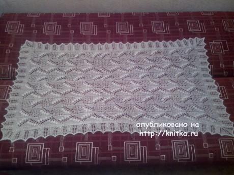 Ажурная шаль. Работа Ивановой Светланы вязание и схемы вязания