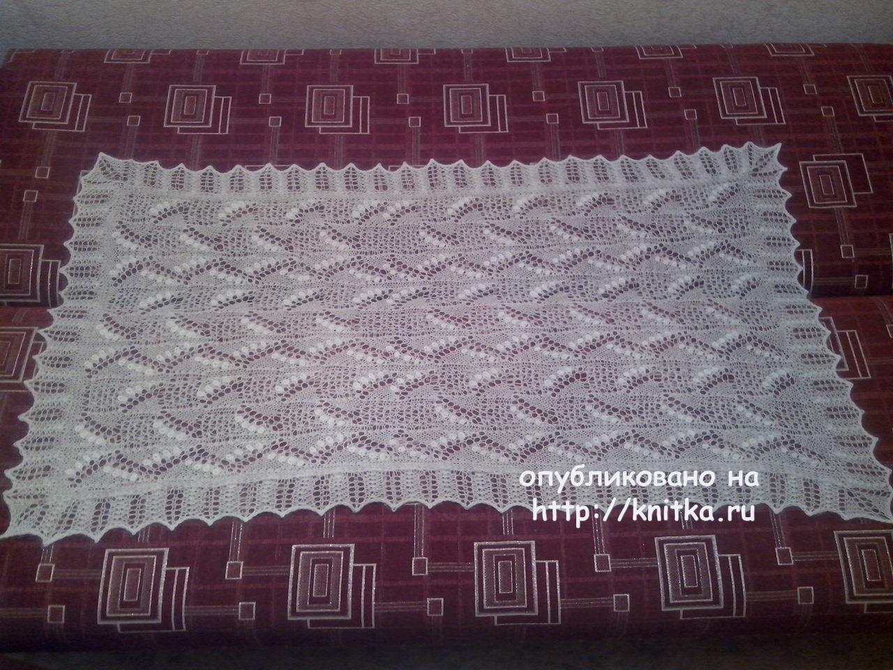 схема вязание коймы для пуховой шали спицами