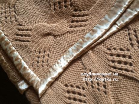 Плед спицами. Работа Пелагеи вязание и схемы вязания