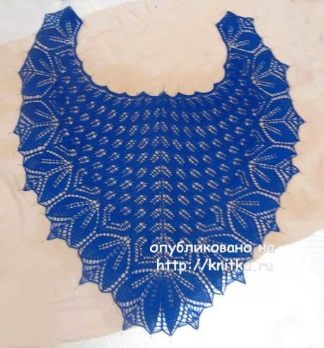 Шаль Харуни. Работа Татьяны вязание и схемы вязания