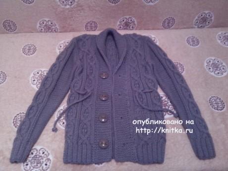 Теплый жакет для мальчика. Работа Ивановой Светланы вязание и схемы вязания