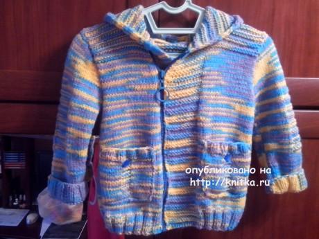 Вязаная курточка для мальчика. Работа Ивановой Светланы вязание и схемы вязания