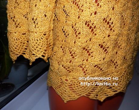 Вязаная спицами кофточка. Работа Елены Мерцаловой вязание и схемы вязания