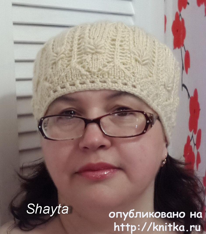 шапка кубанка спицами работа оксаны усмановой вязание для женщин