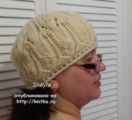 Берет спицами. Работа Оксаны Усмановой вязание и схемы вязания