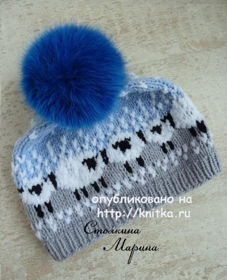 Детская шапочка. Работа Марины Стоякиной вязание и схемы вязания