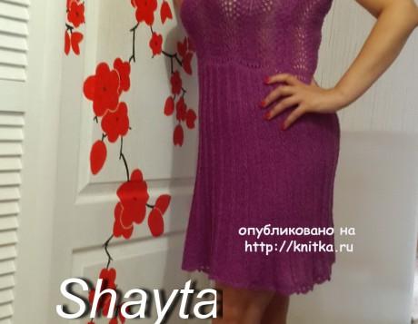 Летнее платье Лилу. Работа Оксаны Усмановой вязание и схемы вязания