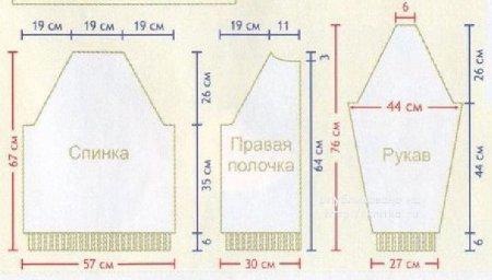 Мужской жакет спицами. Работа Светланы Черняк вязание и схемы вязания