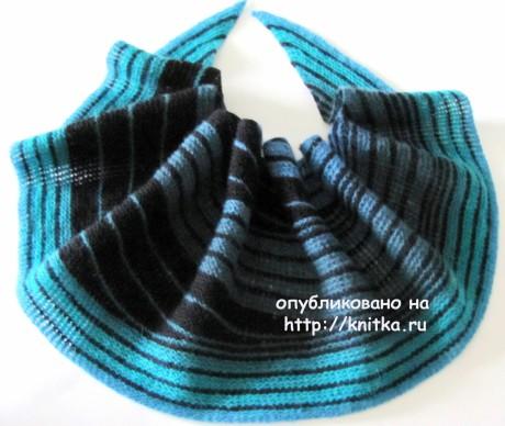 Шаль Морская симфония. Работа Арины вязание и схемы вязания