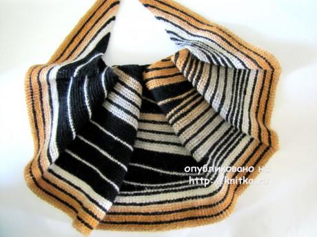 Шаль Сафари. Работа Арины вязание и схемы вязания