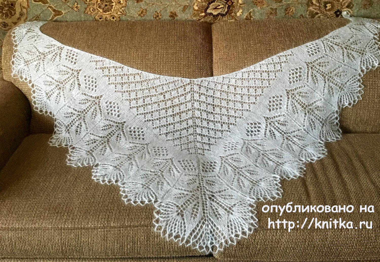 шаль спицами по схеме эриха энгельна с описанием вязание для женщин