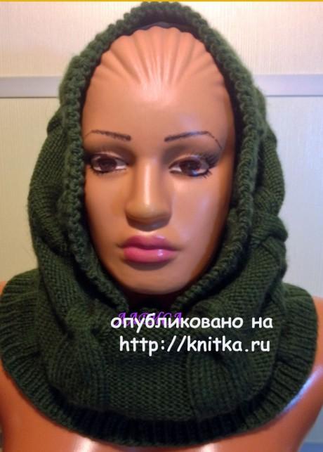 Снуд связаный спицами. Работа Ларисы Величко. вязание и схемы вязания