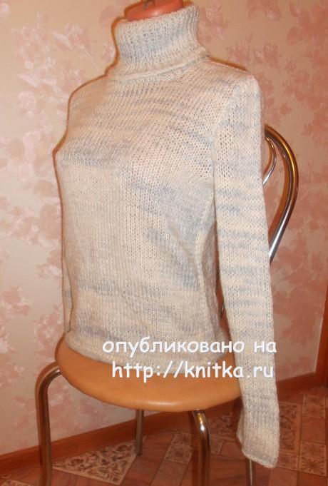 Женский жилет спицами. Работа Валерии вязание и схемы вязания