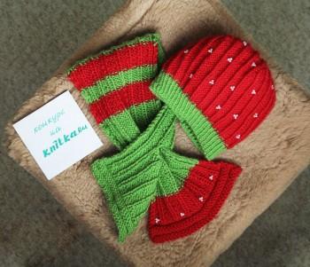 Узор для красивого шарфа спицами от  Элен