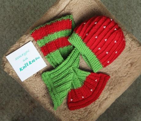 фото шарфа спицами для девочки