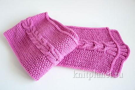 детские шарфы спицами