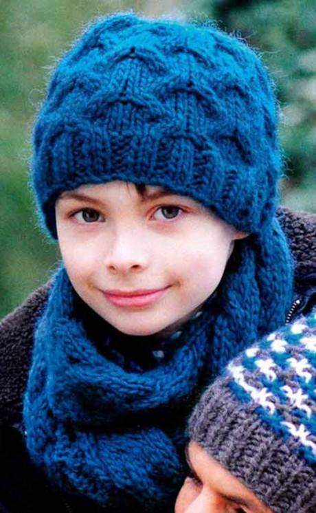 шарф с косами для мальчика спицами