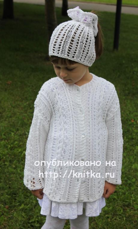 Детский комплект. Работа Светланы Шевченко. Вязание спицами.