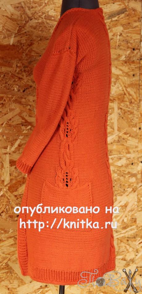 Кардиган спицами. Работа Елены Петровой вязание и схемы вязания