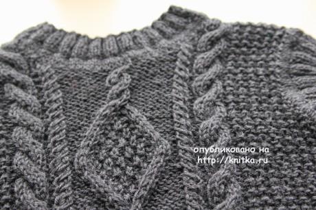 Вязаный жилет. Работа Светланы Шевченко вязание и схемы вязания