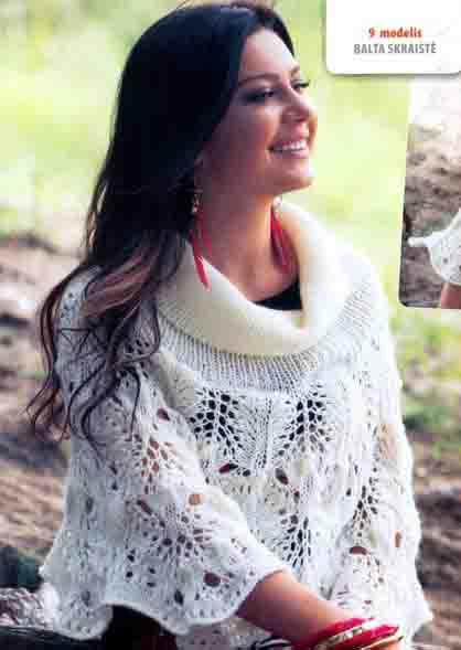 фото накидки вязаной спицами
