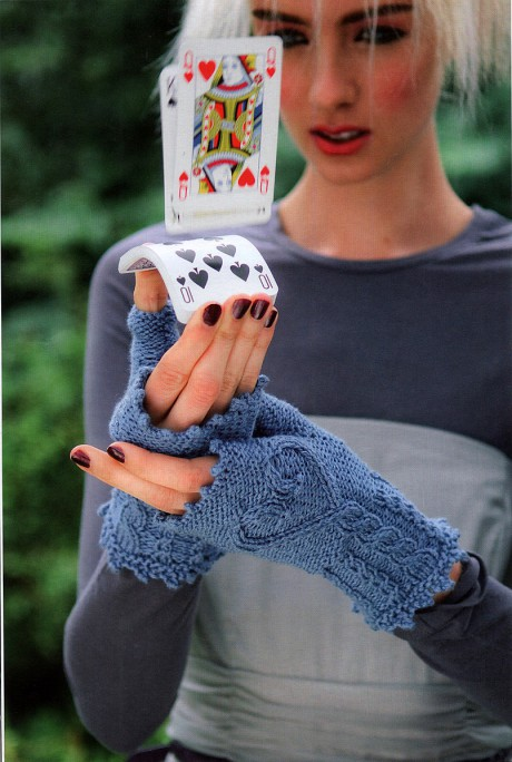 фото перчаток связанных спицами