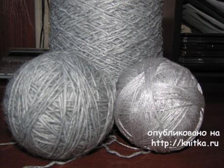 Ажурный жакет спицами из вискозы. Работа Арины вязание и схемы вязания