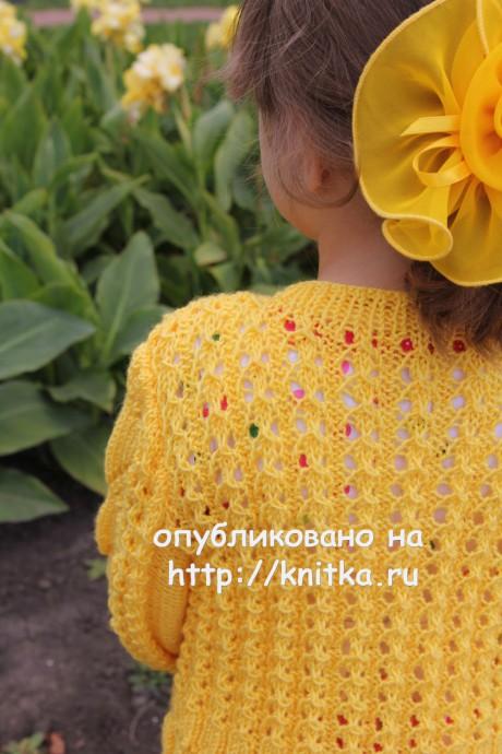 Детская кофточка Золотая бабочка. Работа Светланы Шевченко вязание и схемы вязания