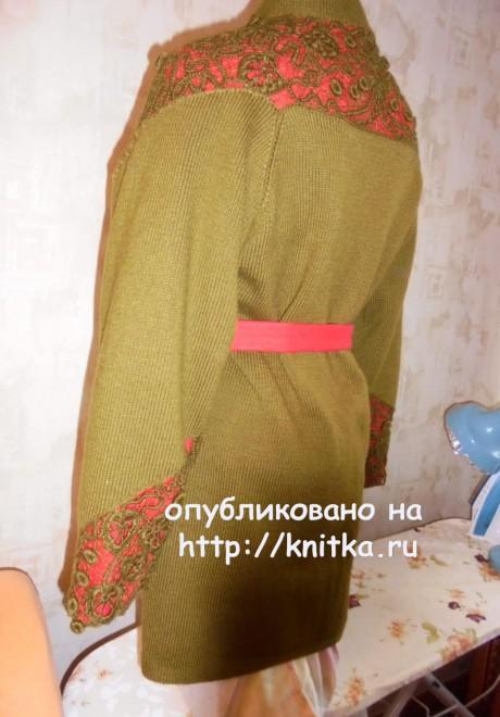 Пальто спицами. Работа Светланы вязание и схемы вязания