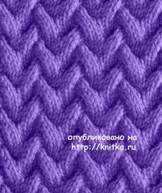 Схема узора коса для шарфа