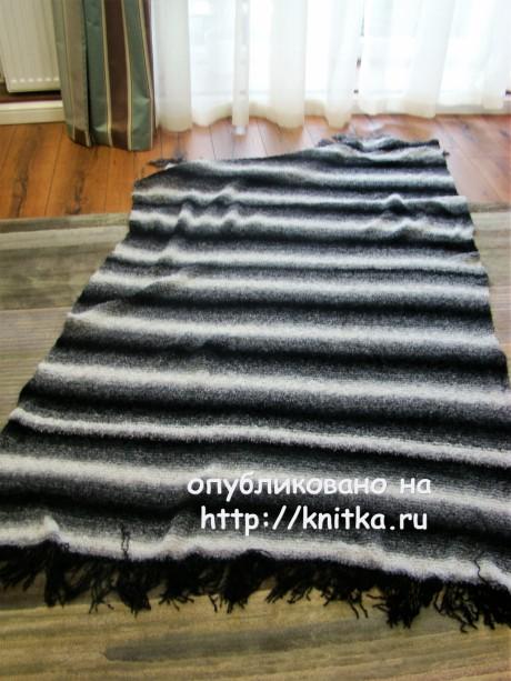 Вязаные спицами пледы. Работы Татьяны вязание и схемы вязания
