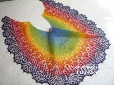 Вязаные спицами шали. Работы Ирины Гусейновой вязание и схемы вязания