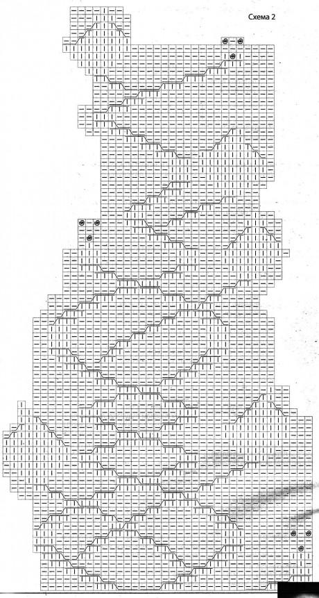 Вязаное спицами пальток. Работа Наталии Гуторовой вязание и схемы вязания