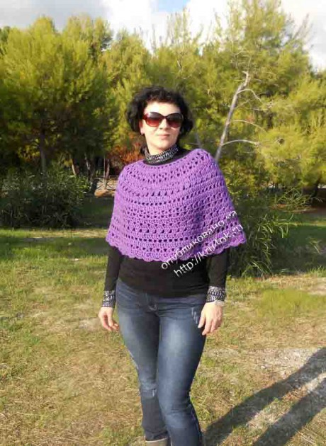 фото вязаной накидки
