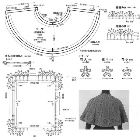 схемы вязания накидки