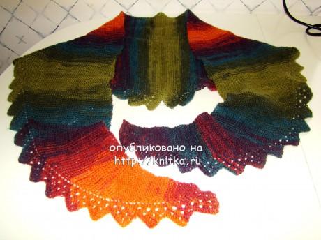 Шаль - бактус Недотрога. Работа Татьяны вязание и схемы вязания