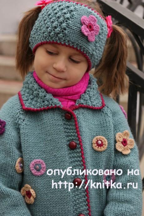 Детский комплект Мильфлёр. Работа Светланы Шевченко вязание и схемы вязания