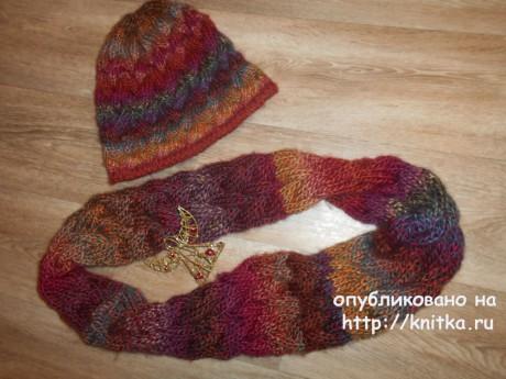 Шапка и снуд с косами. Работы TatVen вязание и схемы вязания