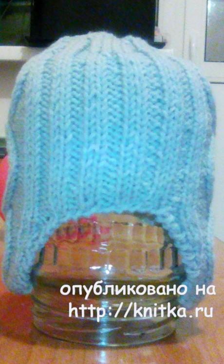 Шапочка для мальчика спицами. Работа Арины вязание и схемы вязания