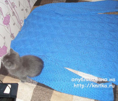 Свитер - туника спицами. Работа Елены вязание и схемы вязания