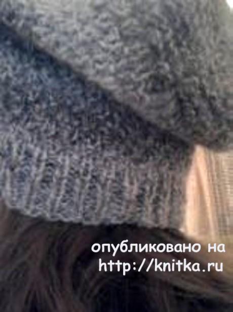 Вязаная спицами шапка. Работа Светланы вязание и схемы вязания