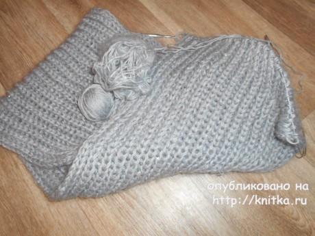 Вязаный спицами снуд Серебро. Работа TatVen вязание и схемы вязания