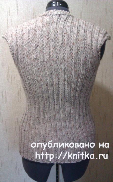 Вязаный жилет на булавке. Работа TatVen вязание и схемы вязания