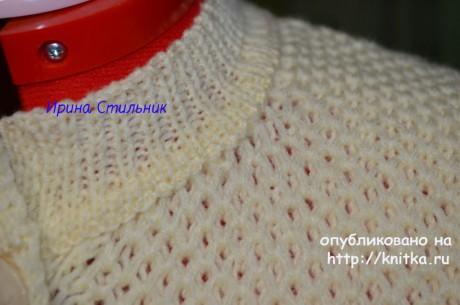 Женская кофта спицами. Работа Ирины Стильник вязание и схемы вязания