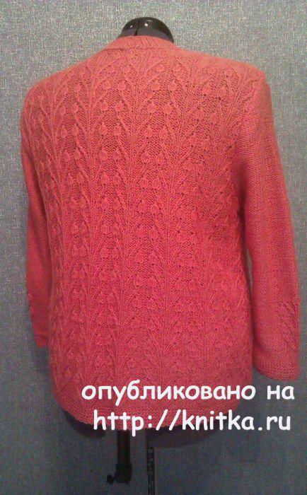 Женский пуловер спицами. Работа TatVen вязание и схемы вязания