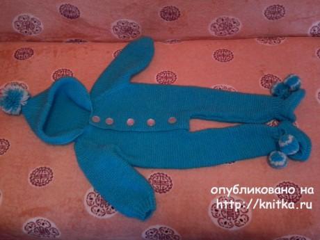 Детский комбинезон спицами. Работа Ивановой Светланы вязание и схемы вязания